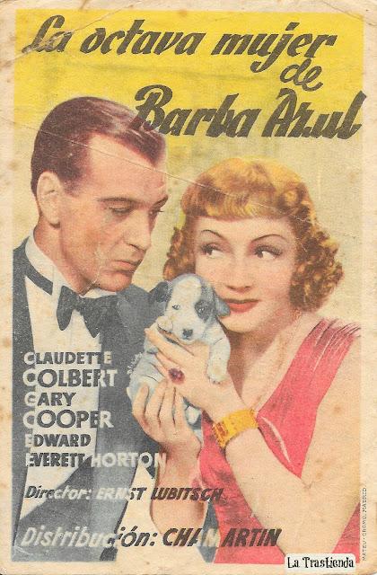 Programa de Cine - La Octava Mujer de Barba Azul - Claudette Colbert - Gary Cooper