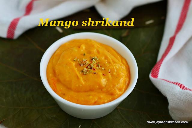Mango-shrikand