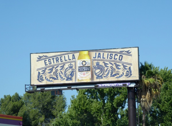 Estrella Jalisco beer billboard