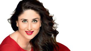 Bollywood actress Kareena Kapoor Khan red lip and red dress looks beautiful