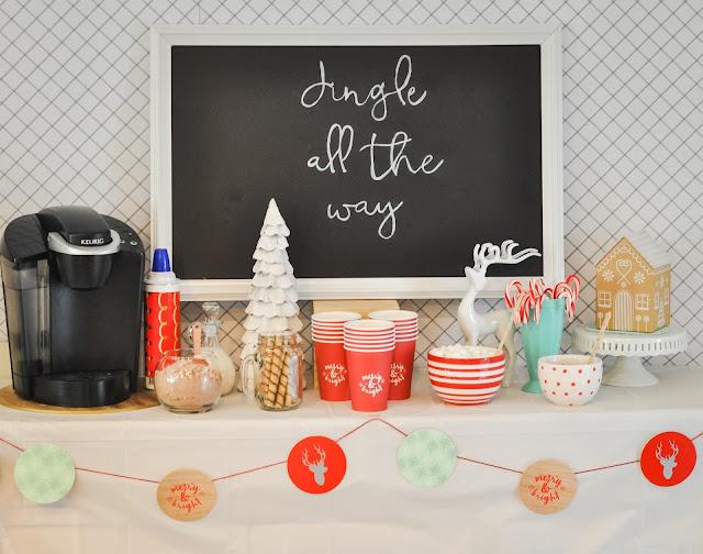 Hot Chocolate Bar at a Holiday Party