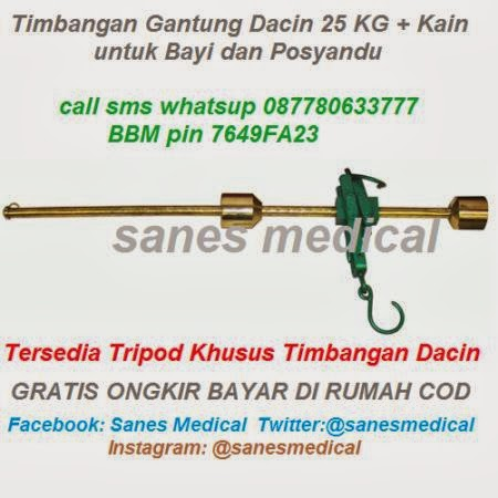 http://labklinik.blogspot.com/2014/01/Timbangan-Gantung-Dacin-25-kg-kain-sarung-Belacu-untuk-Bayi-Balita-dan-Posyandu-Tripod-khusus.html