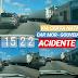 Carreta perde freios e atinge casa e poste na avenida Capitão Mor-Gouveia