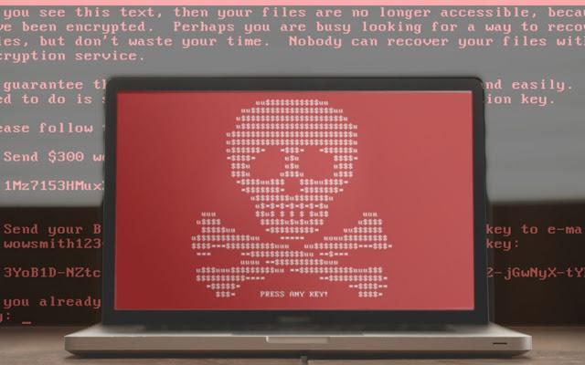 Malware and Ransomware Virus attacked Windows User