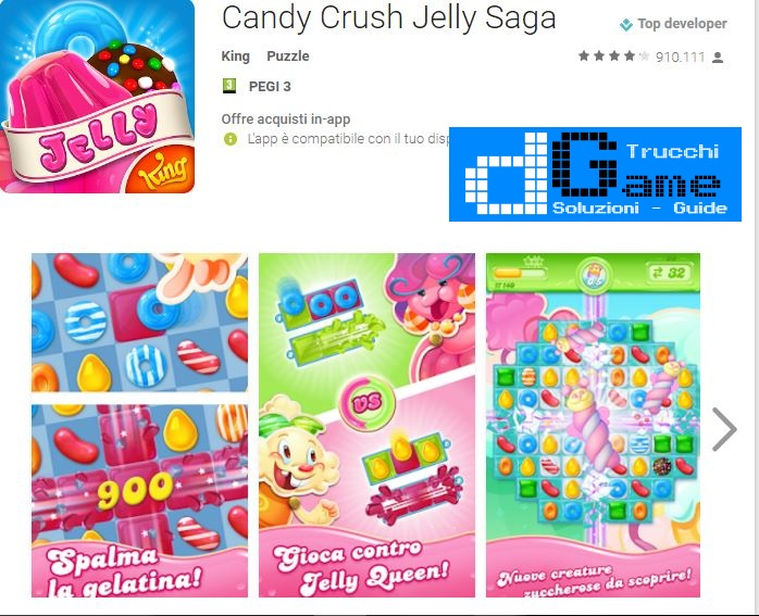 Soluzioni Candy Crush Jelly Saga livello 361 362 363 364 365 366 367 368 369 370 | Trucchi e  Walkthrough level
