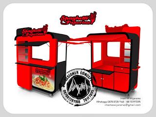 jasa desain dan produksi gerobak spaghetti