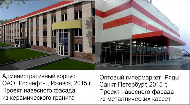 Проект вентилируемого фасада, пример проект вентфасада