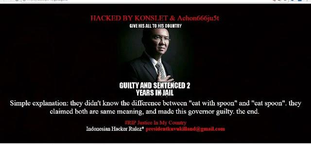 Waduh, Situs Pengadilan Negara Diretas Hacker Bawa Nama Ahok