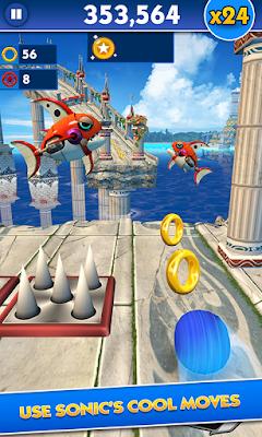 pada kesempatan kali ini admin akan membagikan sebuah  Sonic Dash v3.8.4.Go Mod Apk (Unlimited Money/Unlocked/Ads-Free)