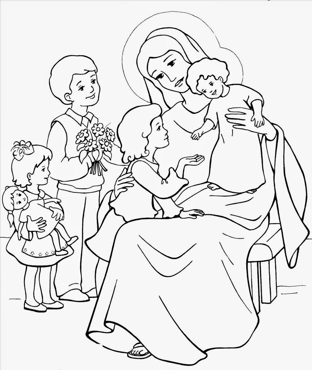 Piesni Maryjne Kolorowanki Z Matka Boska Dla Dzieci
