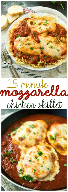 15 Minute Mozzarella Chicken Skillet