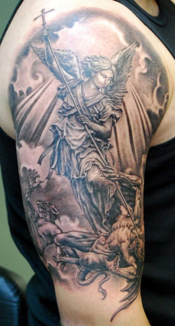 warrior angel tattoo design