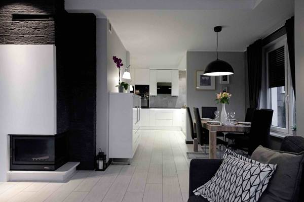 Black and White Decor For a Multifunction Environment 7