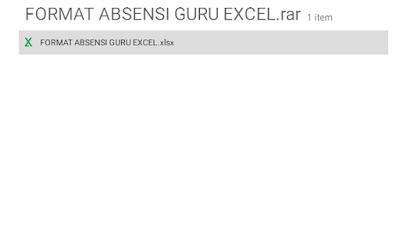 Download Contoh Format Daftar Absensi Guru