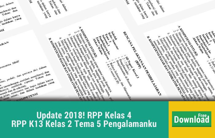 RPP K13 Kelas 2 Tema 5 Pengalamanku