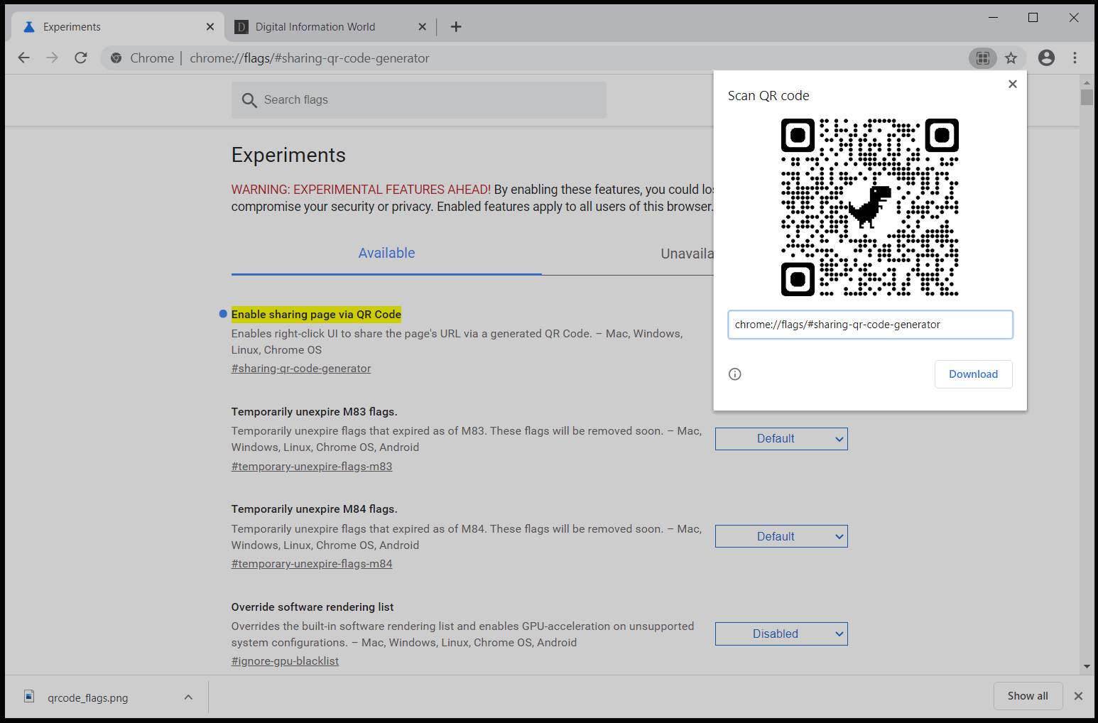 Here's How To Early Access QR Codes for Sharing Webpages in Google Chrome