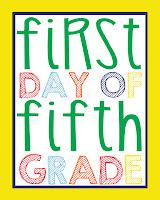 Fifth Grade Printable