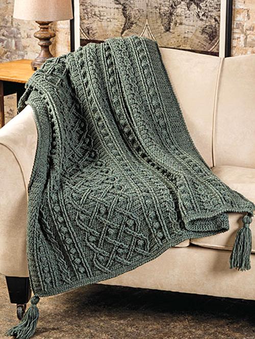 Kinlough Aran Afghan - Crochet Pattern