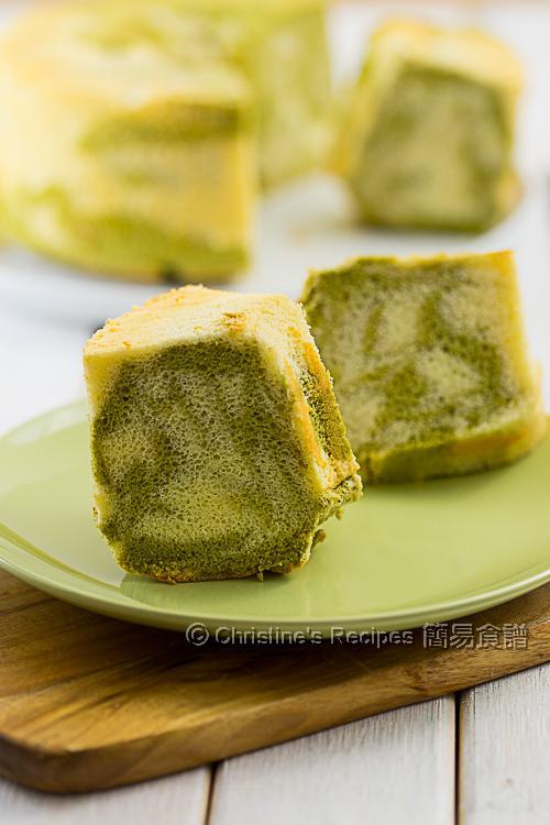 抹茶大理石戚風蛋糕 Matcha Marble Chiffon Cake01