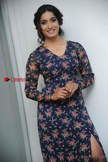 Kannada Actress Krushi Stills in Floral Blue Dress at IRA Movie Press Meet  0004.jpg