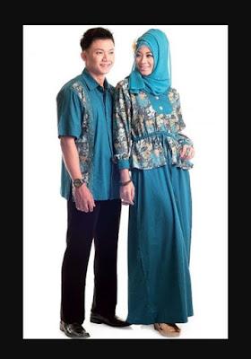 model baju batik couple pasangan untuk pernikahan