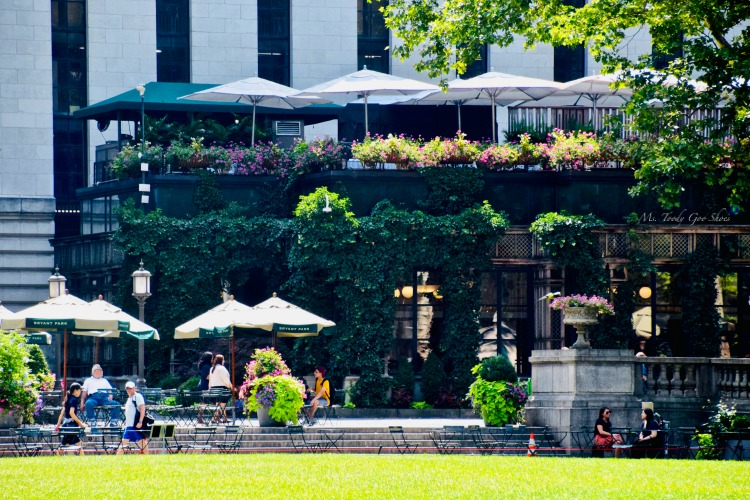 Bryant Park Grill- One of  50 Places To Eat Near Tiimes Square - From Cheap To Chic!   Ms. Toody Goo Shoes