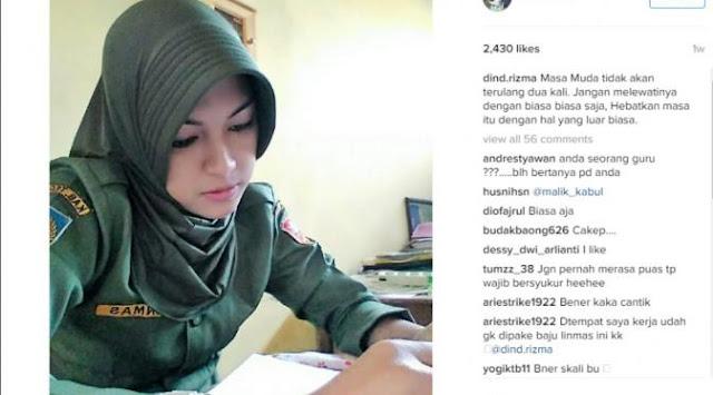 Rizma, Guru SD Cantik Asal Tegal yang Jadi Idola