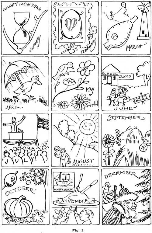 Meses Del Año Dibujos Para Colorear Imagui