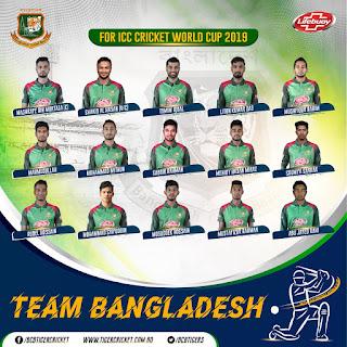 Bangladesh World Cup 2019 Team Players name list