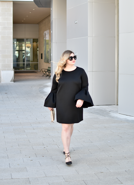 nordstrom pleione bell sleeve a line dress lbd little black dress under 50 bcbg studded pumps valentino rockstud sole society tiia heels anthropologie zippered mini envelope clutch gucci square sunglasses legacy west 2