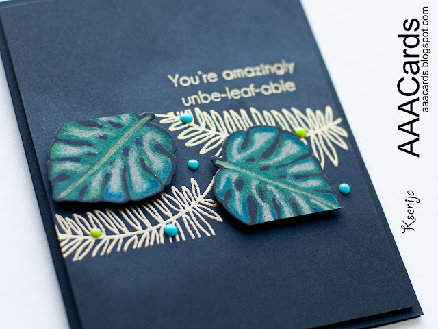 Pencil Coloured Embossed Card on Black