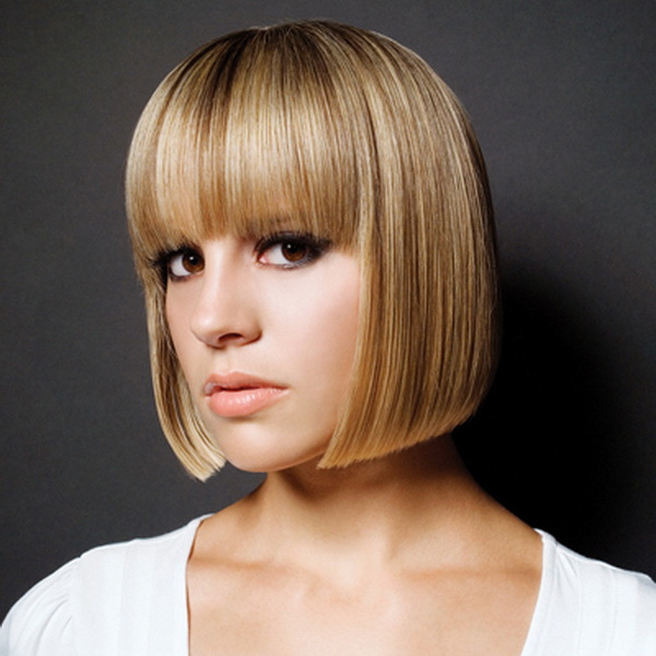 Thick Simple Bob Hairstyle