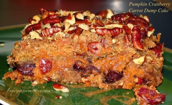 Pumpkin Cranberry Carrot Dump Cake RecipesForMyBoys.com