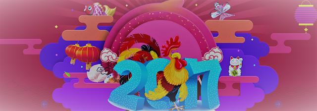 {Nouvel an chinois} : nouilles de riz, petits légumes et ses crevettes sautées aux noix de cajou - coq de feu 2017