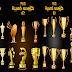 مجموعة كؤوس ذهبية مفرغاة بصغية  png اكثر من 50 شكل مختلف