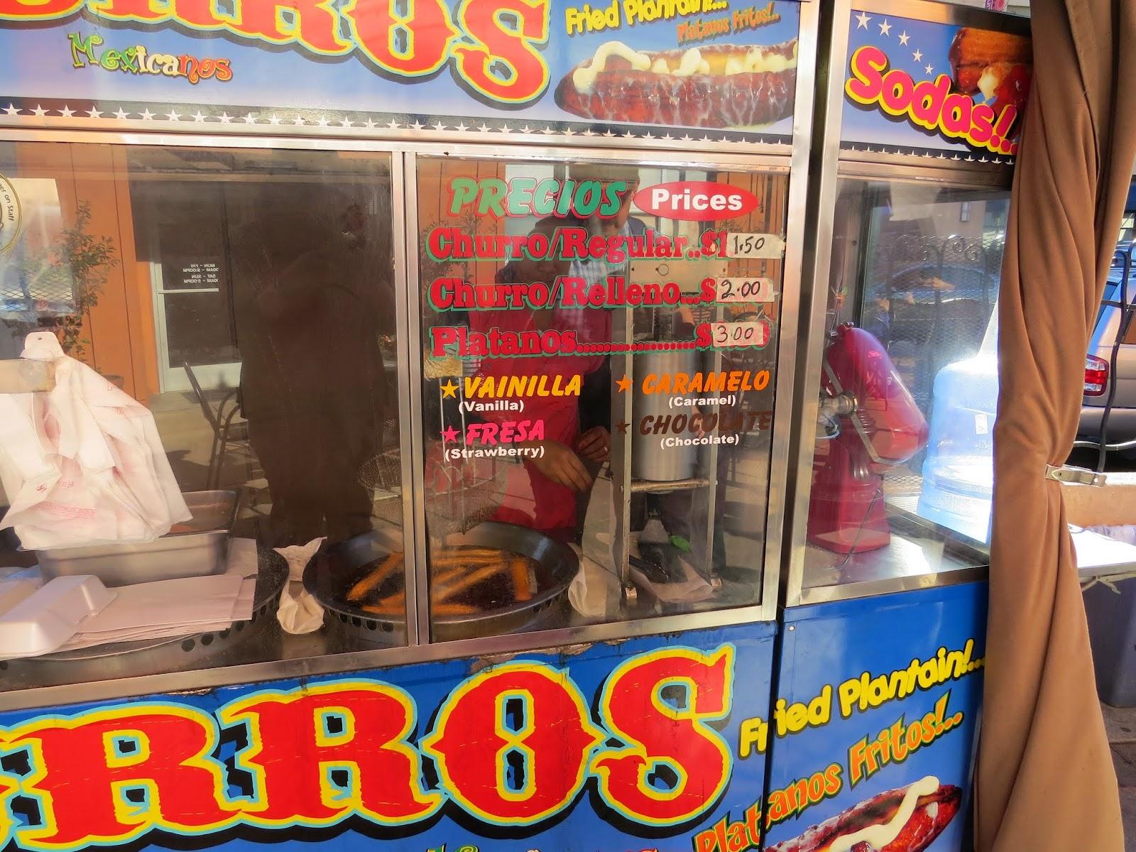 Churro Menu at Fruitvale Public Market