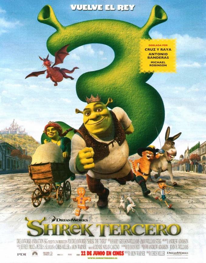 póster de Shrek tercero