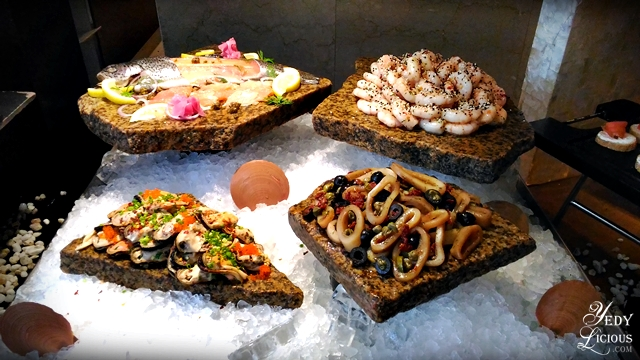 Marinated Seafood Buffet at Spectrum Fairmont Hotel Makati Manila PH