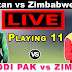 Pakistan vs Zimbabwe Live Streaming | ODI Series