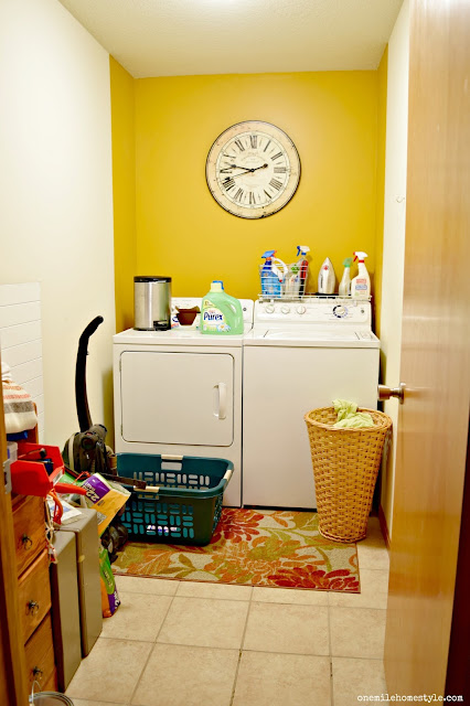 Laundry Room Makeover: Before - One Mile Home Style