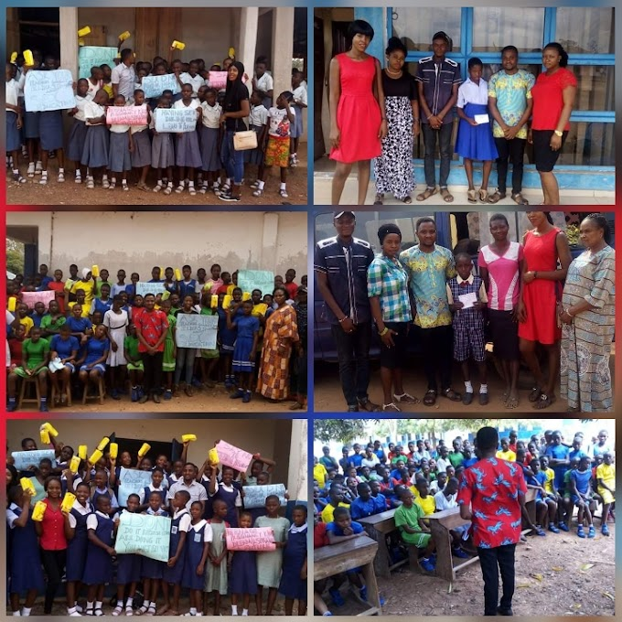 Group carry out sensitization on underage pregnancy, distributes sanitary pads, grant scholarship for less privileged children in Yala