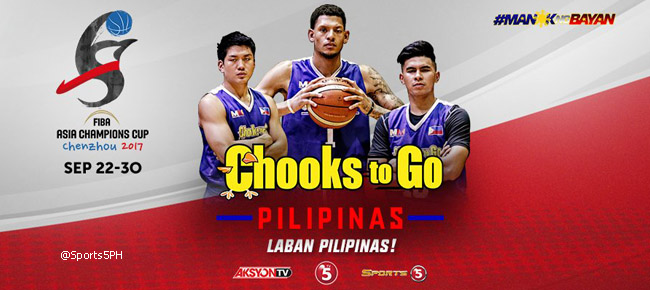 Chooks-to-Go Pilipinas Final 12-man lineup for 2017 FIBA Asia Champions Cup