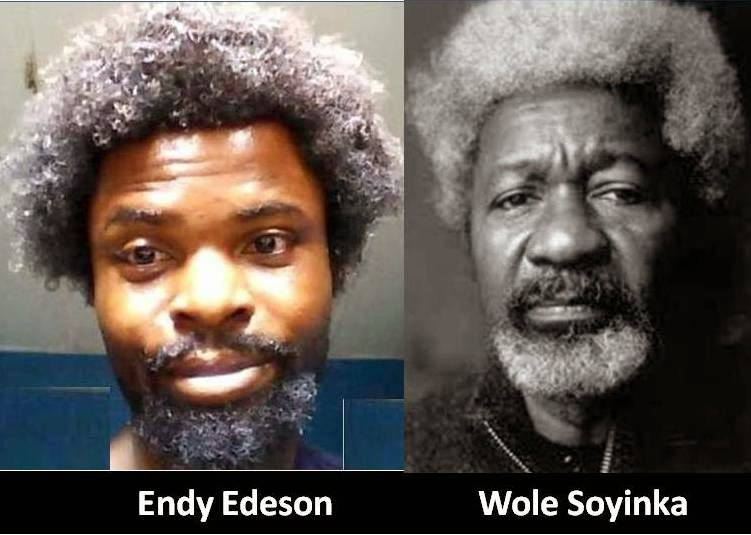 WEIRD PHOTO: Endy Edeson Vs Wole Soyinka: Click Image to Read the Details