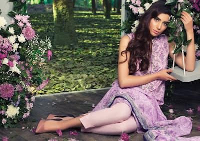 Pakistani summer lawn dresses designs 2017 by Alkaram