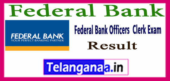 Federal Bank Clerk Officers Exam Result 2017 Answer Key