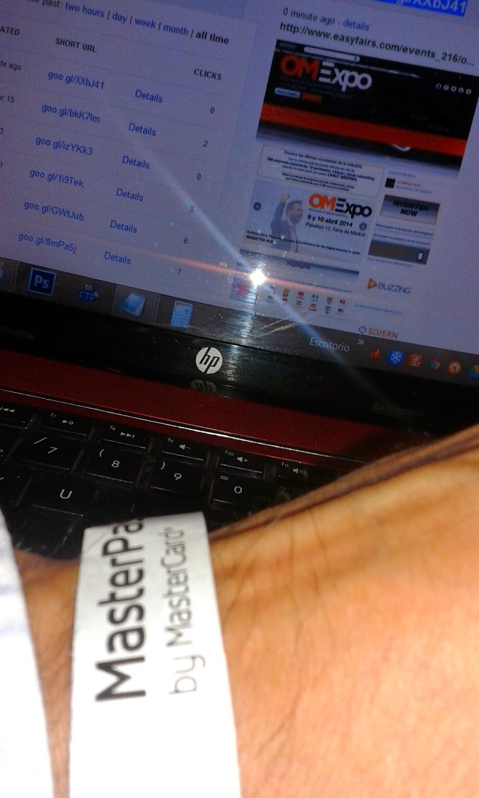 Pulsera de OMExpo Curso Google AdWords Abril 2014 Madrid