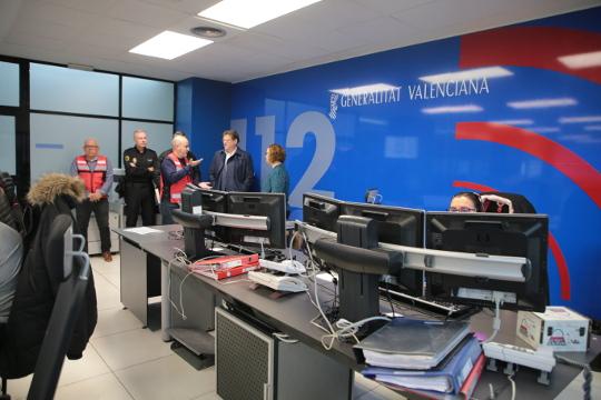 Puig destaca la labor de los equipos del 112 para garantizar la seguridad de los ciudadanos