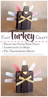 Easy DIY Turkey Craft for Thanksgiving Decor