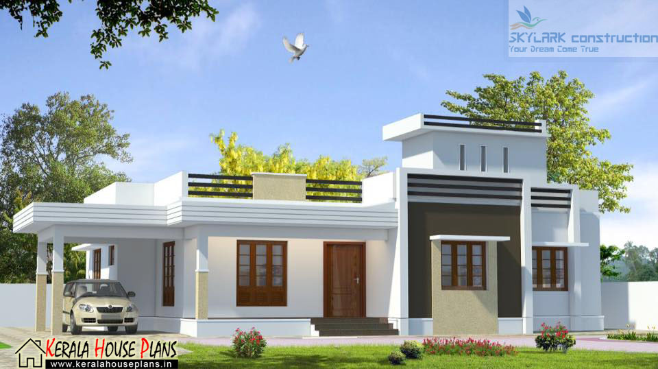 3 bedroom house plans in kerala single floor in 1650 sqft for House plans in kerala with 2 bedrooms