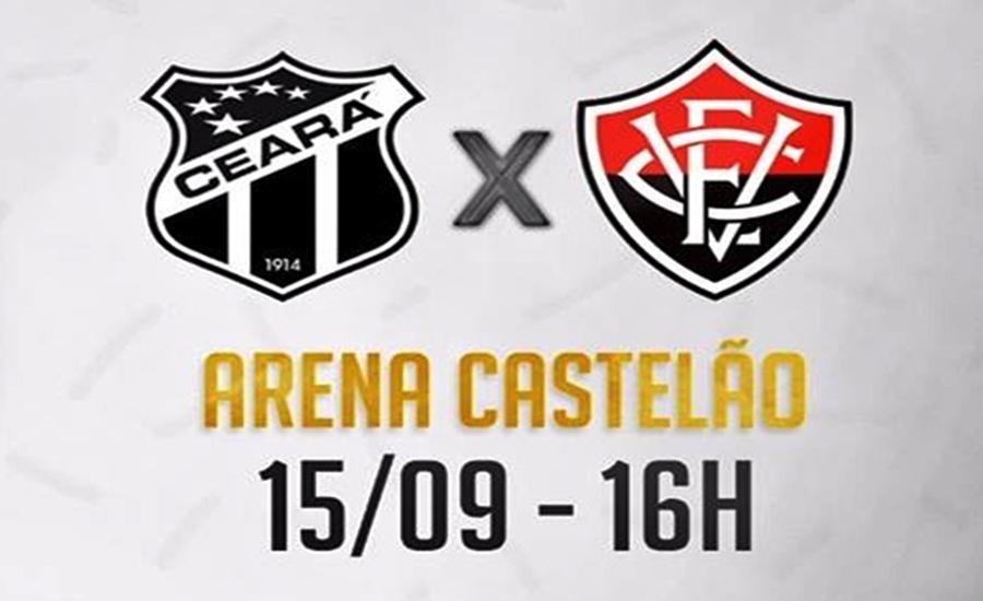 Assistir online Ceará x Vitória ao vivo HD pelo Campeonato Brasileiro (16h) 1